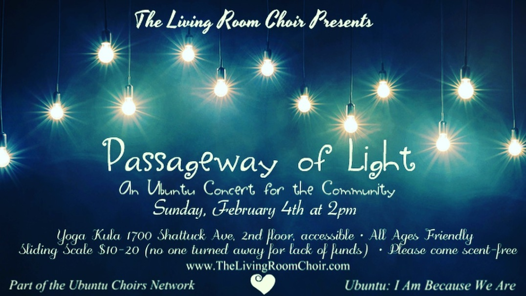 Passageway of Light: February 4th 2018 at Yoga Kula